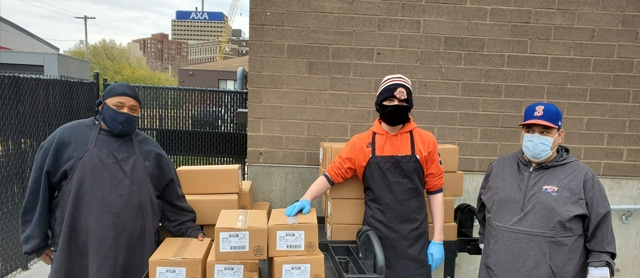 Syracuse Mets Donate 300 Pounds of Hot Dogs